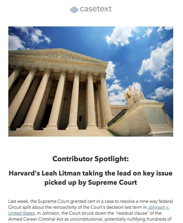 Casetext newsletter email