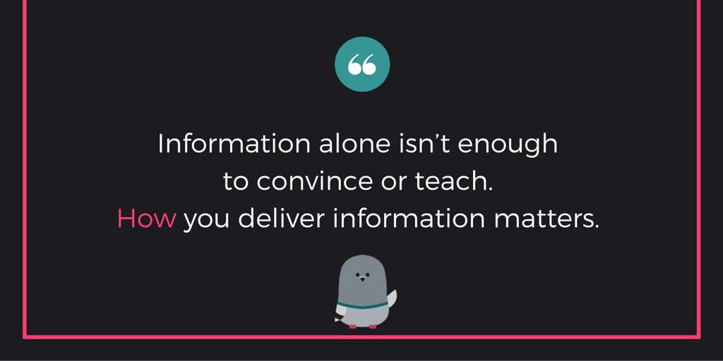 """Information alone isn"
