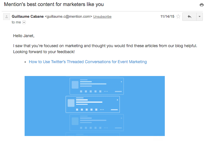 Mention role-targeted content email