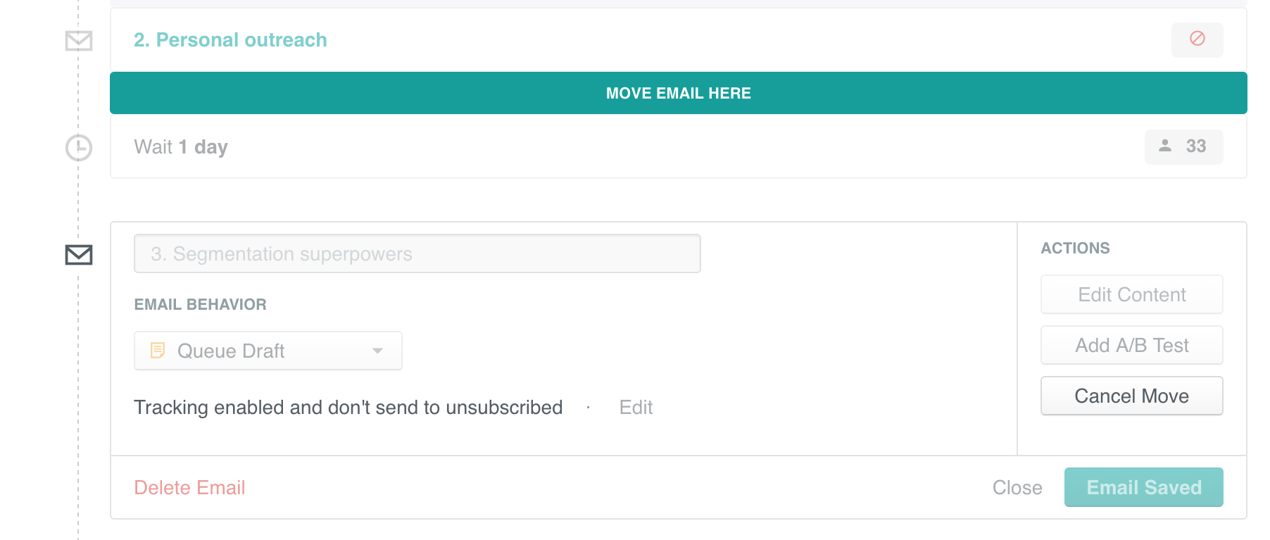 Move an email
