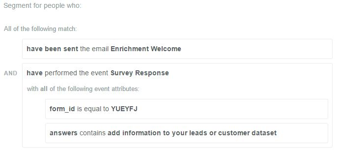 survey-based segment trigger