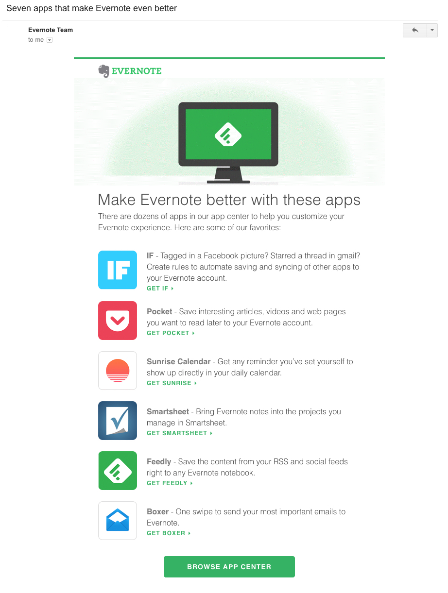 Evernote lifecycle integration news