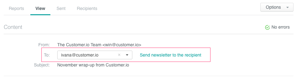 newsletter individual view