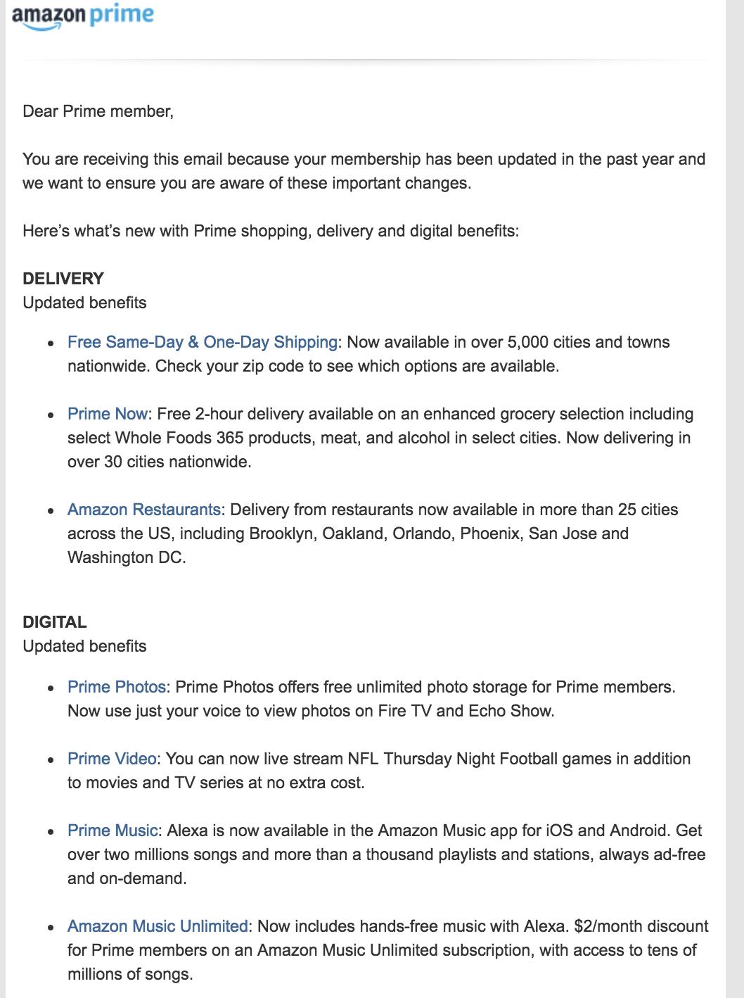 best transactional emails Amazon
