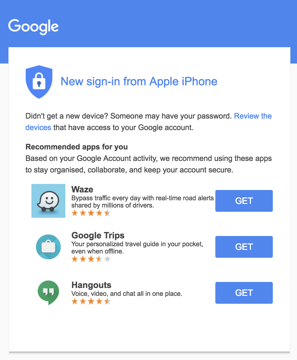 best transactional emails Google