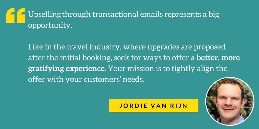 transactional email Jordie quote