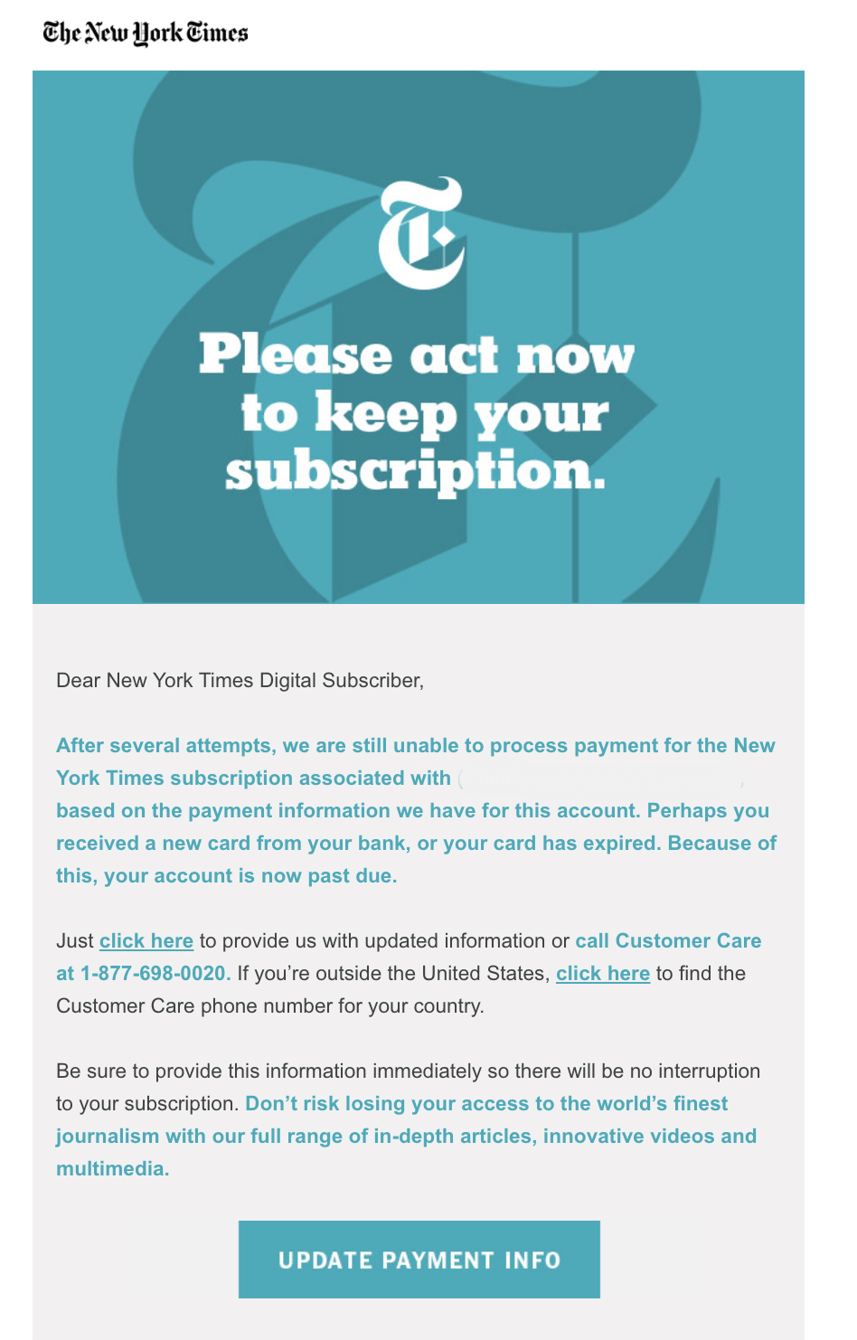 best transactional emails The New York Times