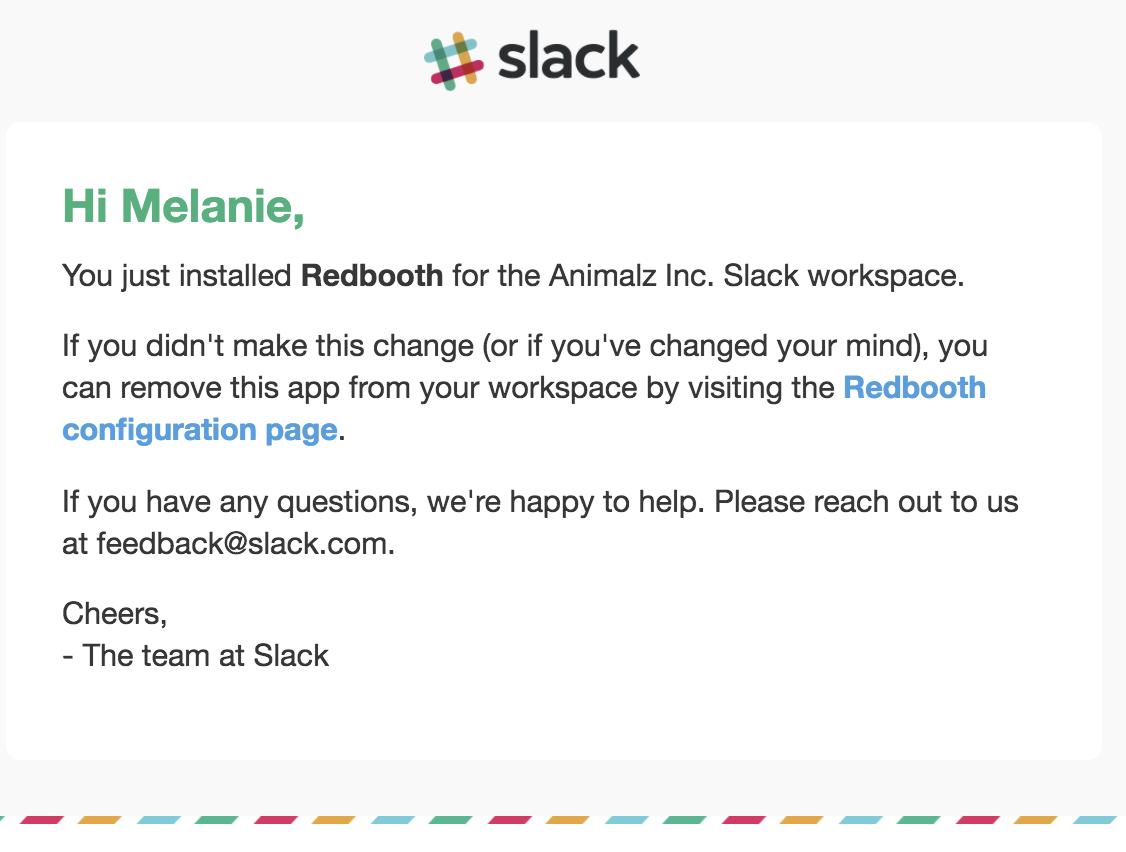 best transactional emails Slack
