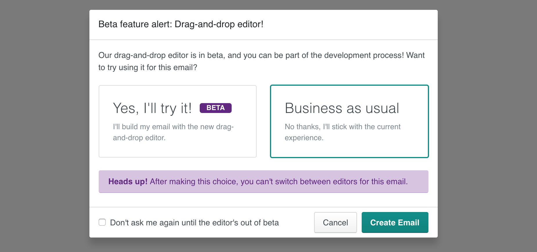 Drag and drop modal