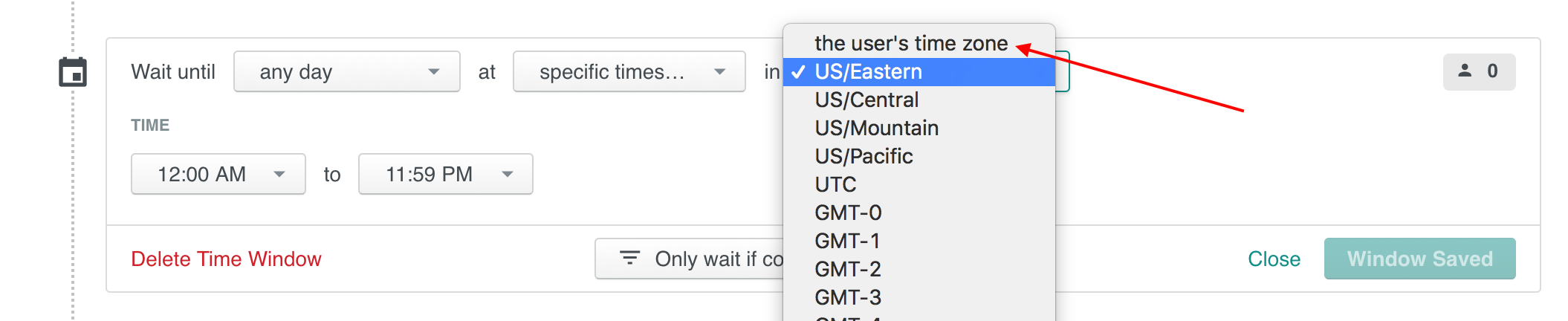 Select the user's time zone, instead of one time zone for everyone!