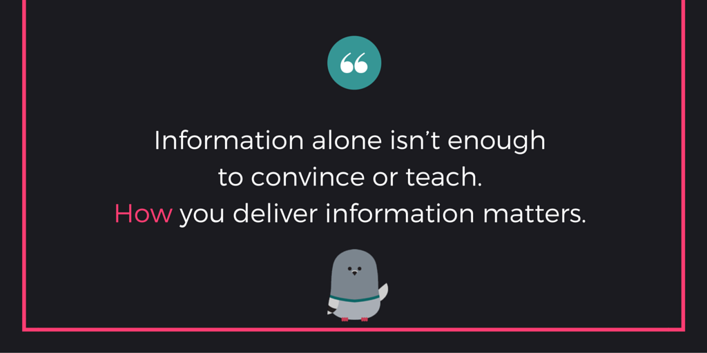 """Information alone isn"