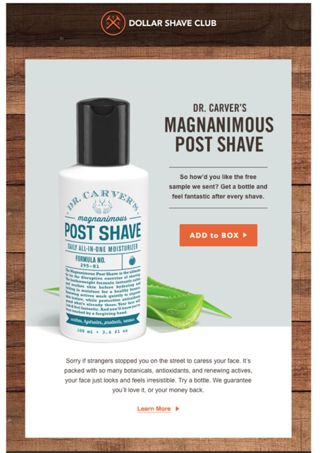 Dollar Shave Club perfect timing