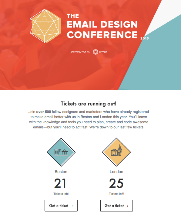 Litmus Email conference ticket limited availability