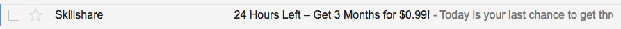 Skillshare subject line