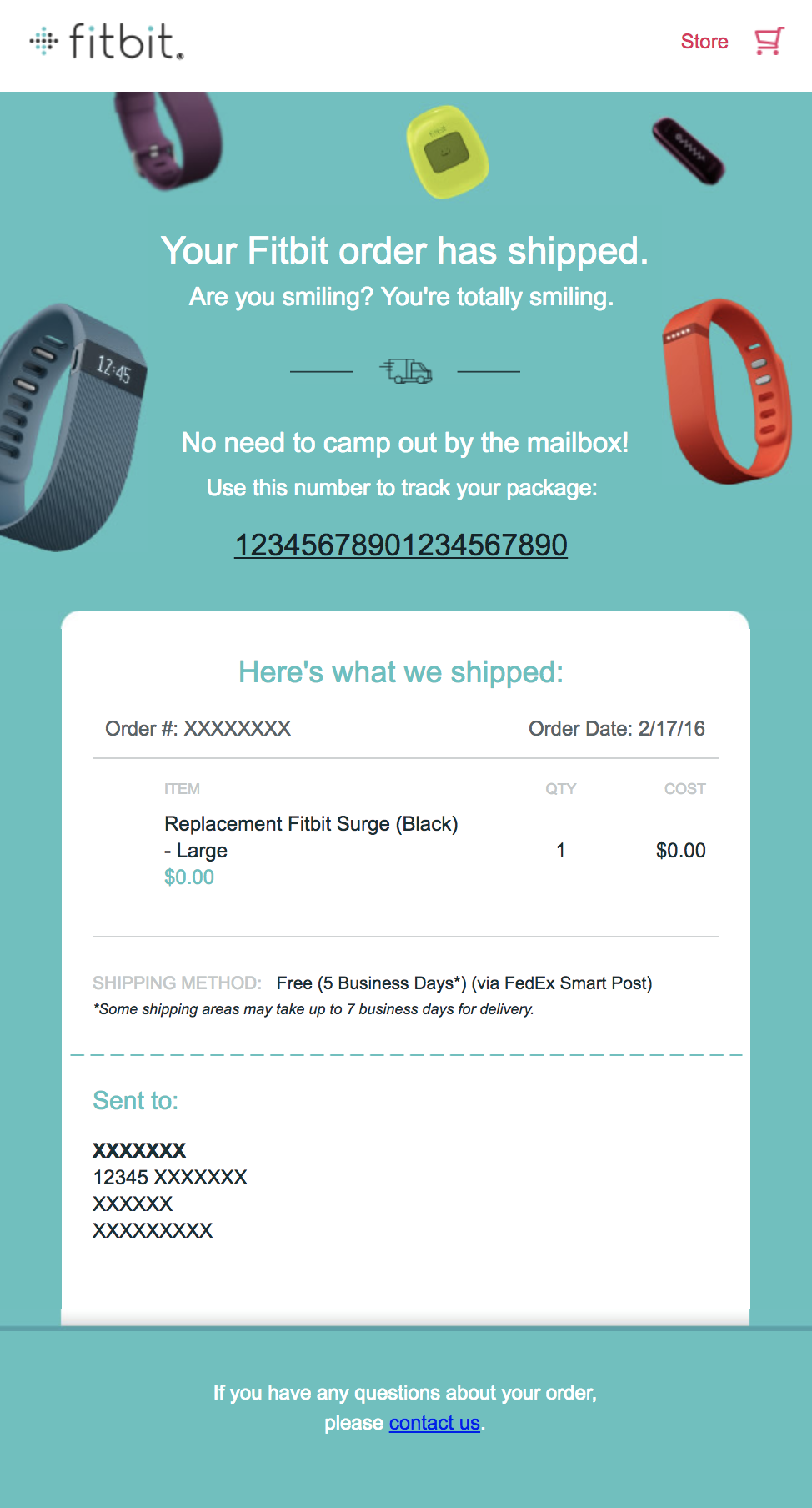 best transactional emails Fitbit