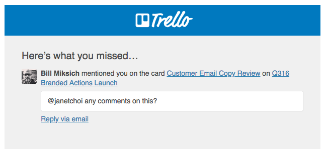best transactional emails Trello