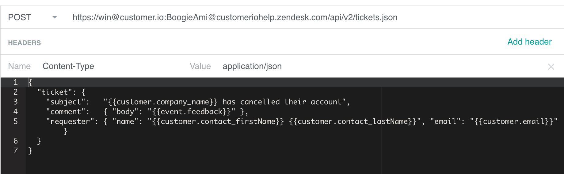 Create a Zendesk Ticket with Customer io - Customer io