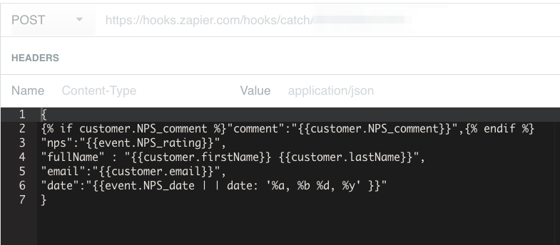Customer.io webhook action