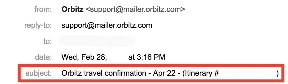 transactional email best practices Orbitz