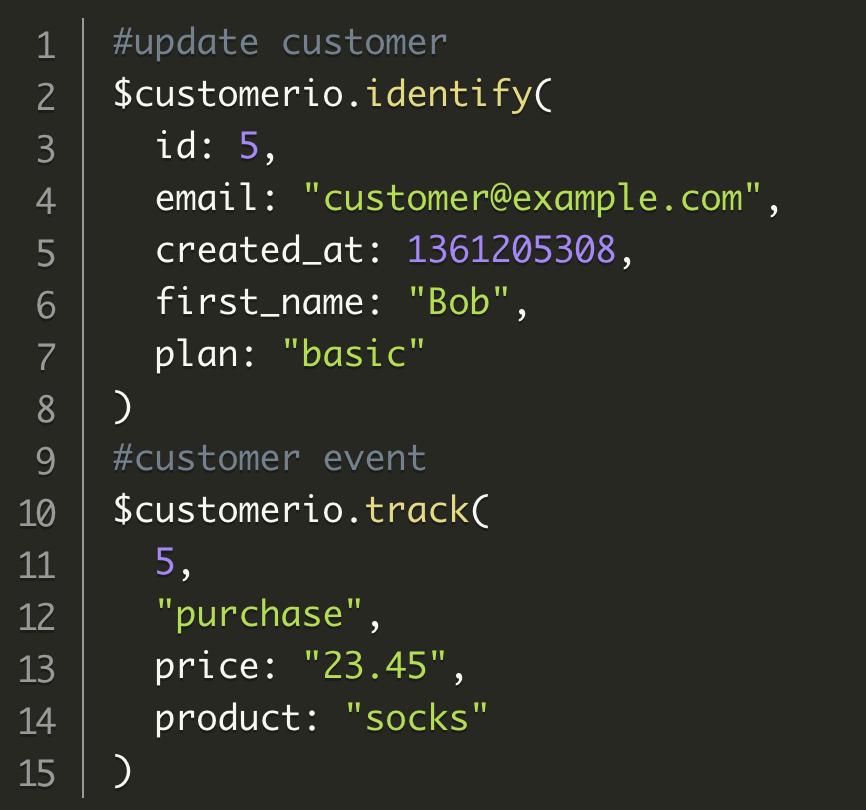 Sending data to Customer.io using Ruby is easy